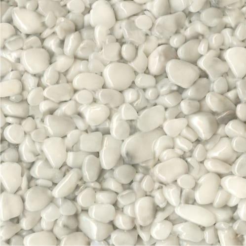 Steinteppich Farbe CARRARA Weiß Körnung GROSS