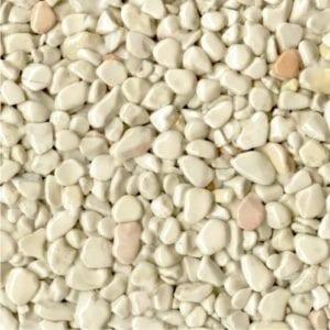Steinteppich Farbe CREMA Beige Körnung GROSS