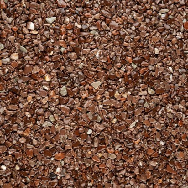 Steinteppich Farbe MARONE Braun Körnung GROSS