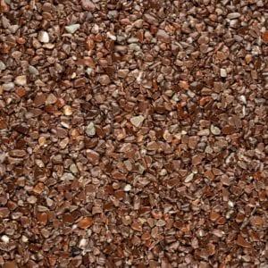 Steinteppich Farbe MARONE Braun Körnung MITTEL