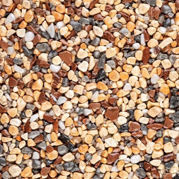 Steinteppich Farbe MEDITERRAN Körnung GROSS