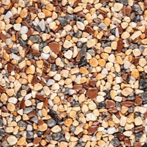 Steinteppich Farbe MEDITERRAN Körnung MITTEL
