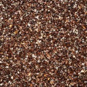 Steinteppich Farbe ROUGE Rotbraun Körnung FEIN