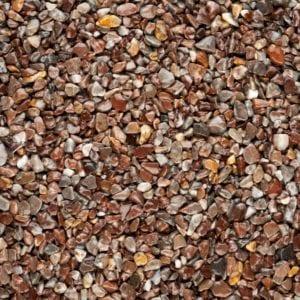 Steinteppich Farbe ROUGE Rotbraun Körnung GROSS
