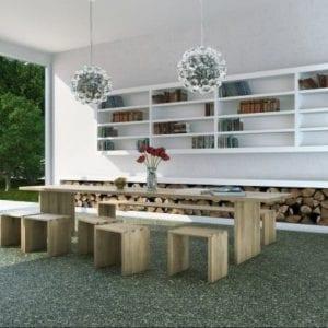 Sonderpreise RAVELLO Steinteppich Indoor Mittel